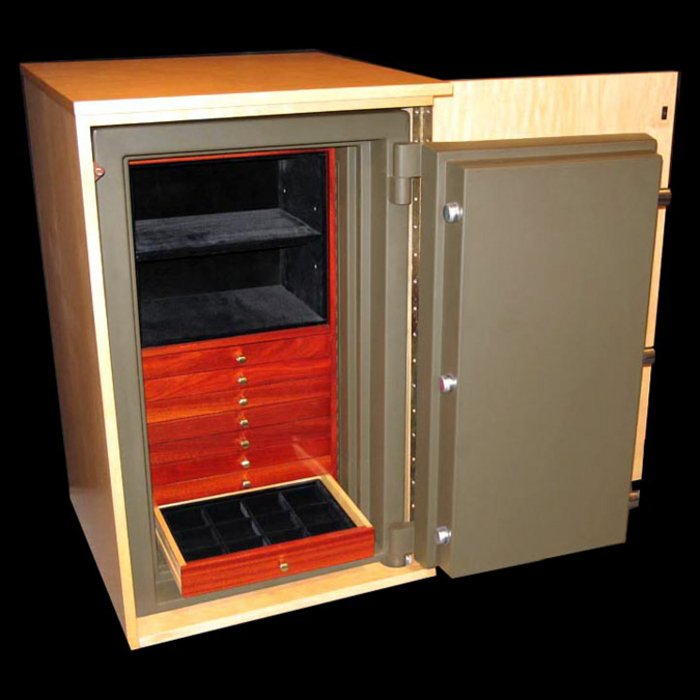 Concealment Cabinet Open 180